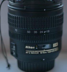 Объектив af-s nikkor 18-70mm 1:3.5-4.5g