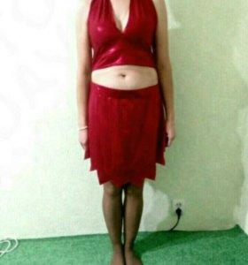 Красный танцевальный наряд