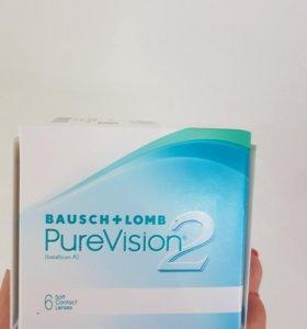 Bausch + Lomb контактные линзы Pure Vision 2 -0.50