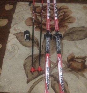 Лыжи +палки