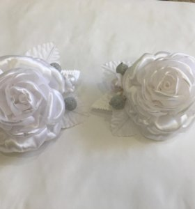 Бантики Белые розы