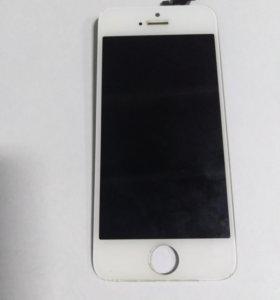 Дисплей (экран) iPhone 5 белый