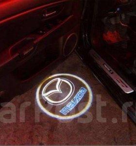 Светодиодная подсветка под двери авто Mazda