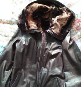 Куртка двухсторонняя Кожа 48 размер