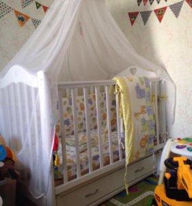 Детская кроватка+ПОДАРКИ!