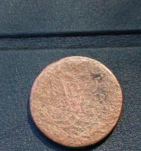 Монета 2 копейки 1759 г