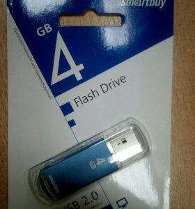 Smartbuy, USB Flash, карта памяти 4 Gb. Новая