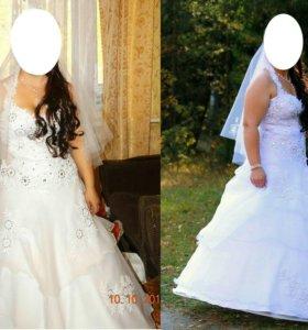 Продам платье свадебное размер 46-50