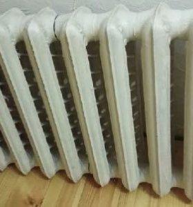 Чугунный радиатор б/у 10 секций