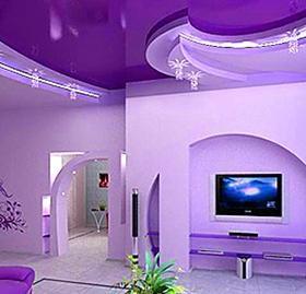 """Натяжной потолок """"Фиолетовые грёзы"""""""