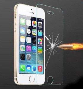 Защитное стекло iPhone 5s, SE, 5