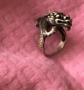 Серебряное Кольцо Китайский Дракон