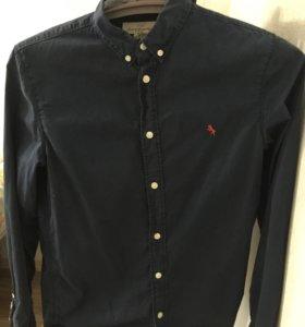 Рубашка темно-синего цвета H&M
