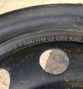Железные диски хёндай Hyundai