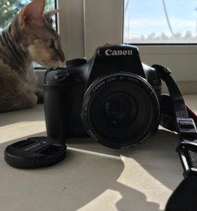 Фотоаппарат Canon EOS 1100D + Объектив EF 50mm