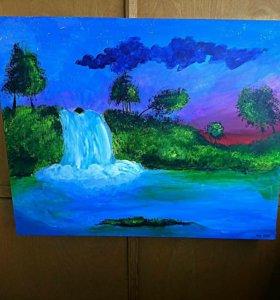 Летний водопад