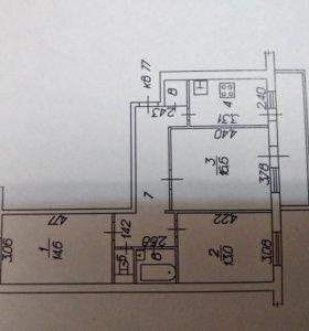 Квартира, 3 комнаты, 68.1 м²