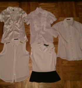 Белые блузы и брюки для школы
