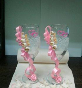 Изготовлю свадебные бокалы