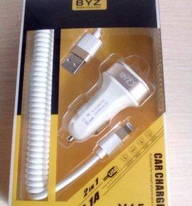 Автомобильное Зарядное Устройство BYZ Y15 2 USB