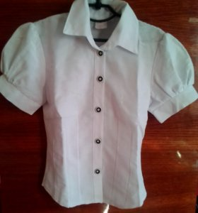 Блузка с короткими рукавами для школы