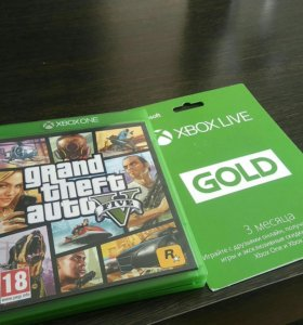 GTA Vдля Xbox One + Xbox live gold на 3 месяца