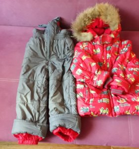 Зимний костюм Kiko 6(116)+ шапка на флисе теплая