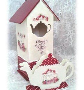 Чайный домик с салфетницей