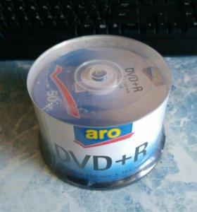 DVD+R чистые на шпинделе, 50 шт.