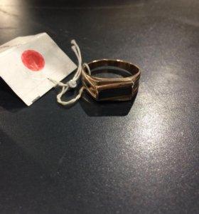 Позолоченная мужская печатка