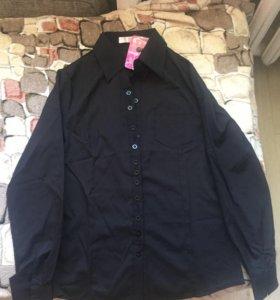 Чёрная новая женская рубашка (S)