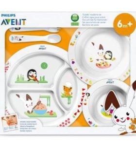 Набор детский посуды AVENT новый