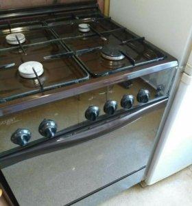 Холодильник и газовая плита гефест