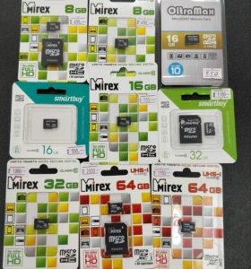 Micro SD card разные
