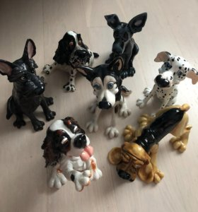 Керамические статуэтки собачек, для интерьера.