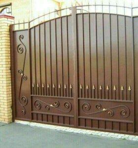 Ворота калитки готовые