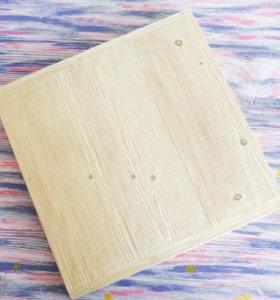 Фотофон деревянный брашированный