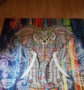 Новое индийское покрывало слон