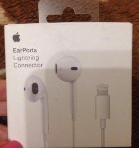 Новые Наушники EarPods на 7 айфон(оригинал)