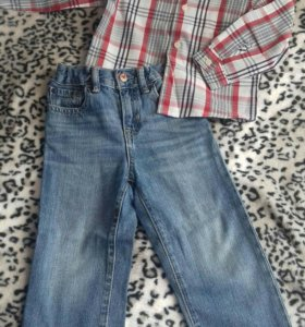 Джинсы Gap + рубашкаGloria Jeans