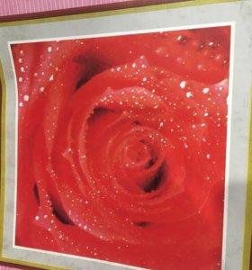 Набор вышивка крестом роза