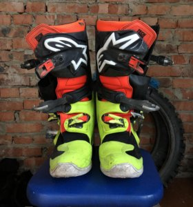 Ботинки Alpinestars Tech 7, Жёлтый-красный-чёрный