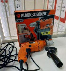 Ударная Дрель Black Decker 500W