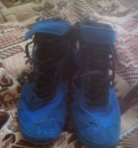 Борцовки новые, синего цвета.