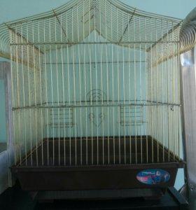 Клетка для волнистого попугайчика, не новая