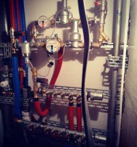 Монтаж отопления, водоснабжения, сантехники