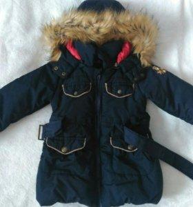 Куртка зимняя удлиненная для девочки