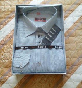 НОВАЯ рубашка с этикетками в коробке