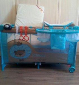 Детская Кровать манеж с матрасом