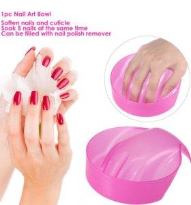 Миска для ногтей для рук для замачивания
